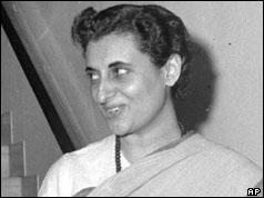 Indira Gandhi pictured in 1959