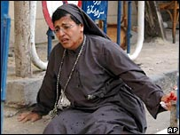 A Coptic nun stabbed at St George's Church, Alexandria, on 19 October