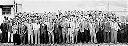 The first group of Paperclip scientists