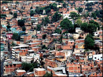 A slum in Caracas