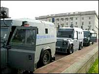 Police raid on Stormont
