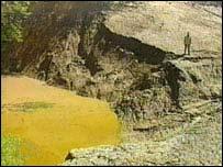 Cráter donde alguna vez hubo un lago
