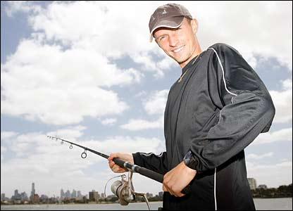 Davydenko fishing