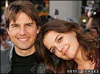 Tom Cruise y su prometida, Katie Holmes.
