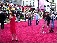TV reporter on red carpet