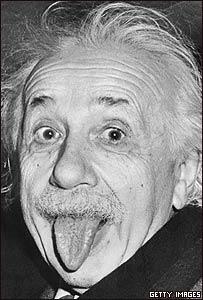Einstein sacando la lengua