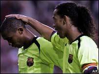 Ronaldinho and Eto