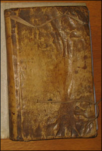 book bound in human skin found on the headrow in leeds 2006