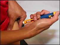 Diabetes injection