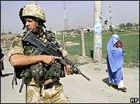 Nato soldier in Kabul