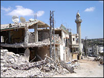 A village in southern Lebanon badly damaged by bombing (picture courtesy UNHCR)