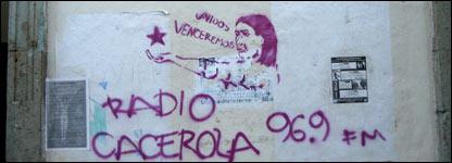 Graffiti de Radio Cacerola