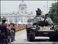 tanks on the Royal plaza