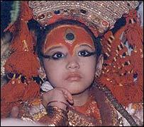 Niña diosa Kumari