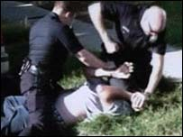Police beating William Cardenas