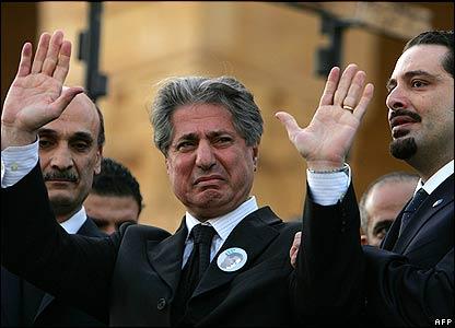 Geagea, Gemayel i Hariri