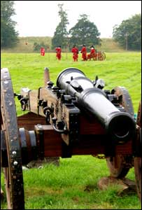 Replica artillery pieces feature in the Boyne project
