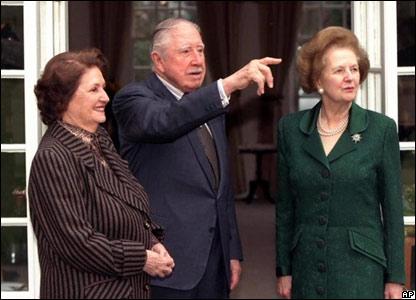 Thatcher con Pinochet