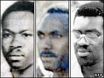 Vincent Bajinya, Celestin Ugirashebuja and Emmanuel Nteziryayo