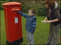 Boy inundated with personal post