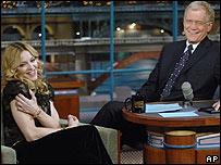 Madonna on the David Letterman Show