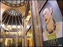 Exhibición por los 100 años de Frida Kahlo en el Museo de Bellas Artes, México.