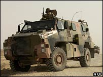 Australian Army Bushmaster Infantry Mobility Vehicle (IMV) on patrol at an undisclosed location in Iraq. ( June 2007)