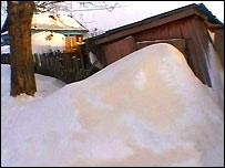 Snow in Omsk