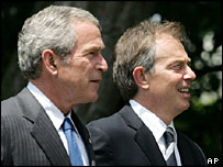 President George Bush and Tony Blair
