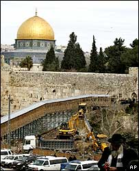 Building work near Dome of the Rock