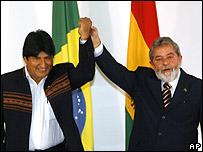 Evo Morales e Inazio Lula Da Silva