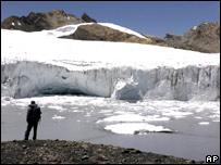 Glaciar en Perú