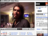 Screen shot Russell Brand on YouTube