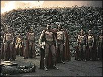 Raja Sparta, Leonidas, dan tentaranya di 300