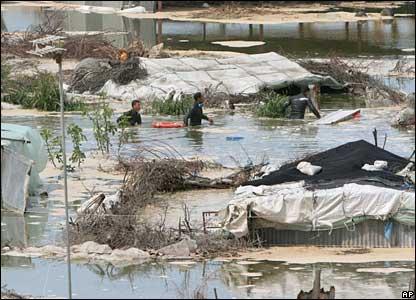 Gaza sewage tsunami