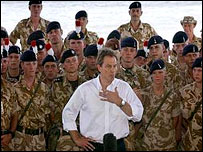 Tony Blair in Basra 2003