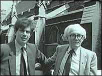 Tony Blair and Michael Foot in 1983
