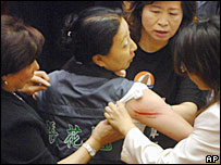 Taiwanese MP injured in brawl