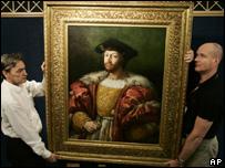 La pintura es uno de los pocos trabajos de Rafael que está en manos privadas.