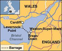 Tidal barrage proposal