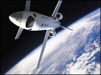 Astrium space jet concept (BBC)