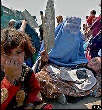 Afghan refugees in Peshawar