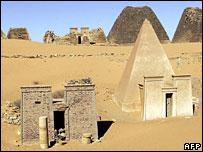 Kush pyramids in Merowe, northern Sudan