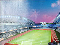 Image of the proposed stadium in Ndola