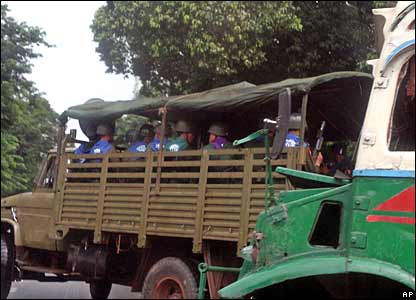 Truck full of soldiers