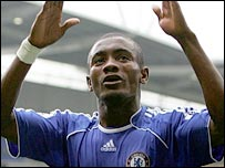 Salomon Kalou celebrates scoring for Chelsea