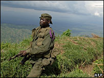 Congolese soldier in the east