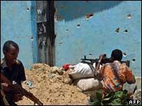 Insurgents in Mogadishu, Somalia. File