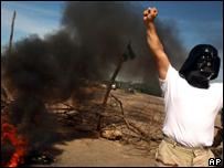 Detractor del gobierno de Evo Morales protesta en Santa Cruz de la Sierra
