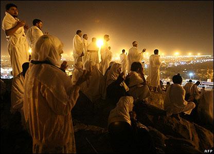 Pilgrims on Mount Arafat
